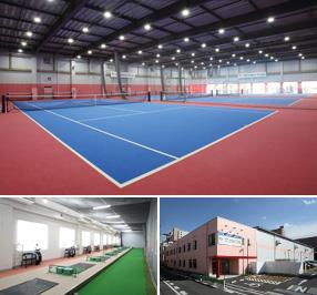 トップインドアステージ亀戸 テニスコートと施設イメージ